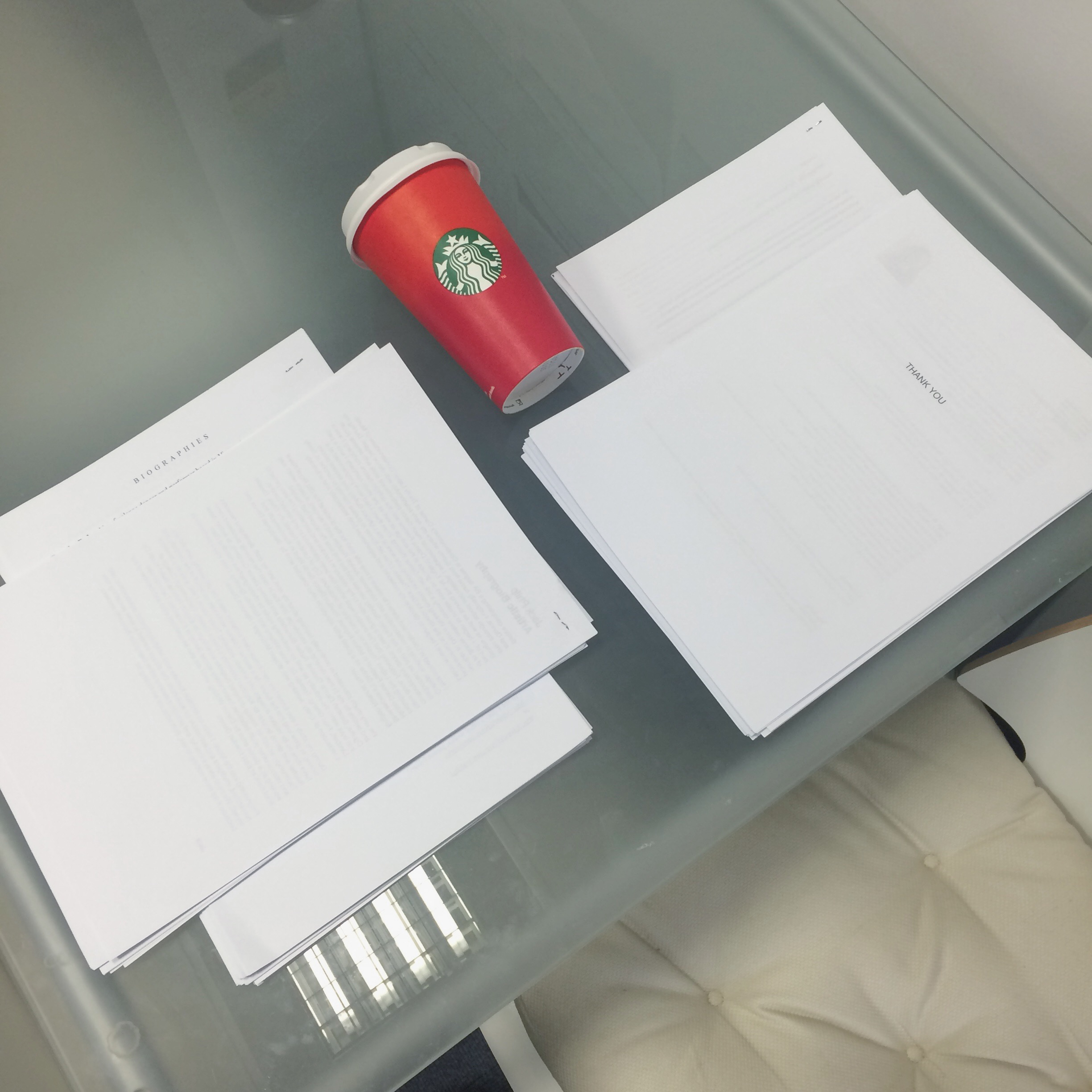serendipity office signatures applications starbucks red cup cheer papers
