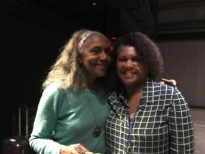 With Brenda Dixon Gottschild