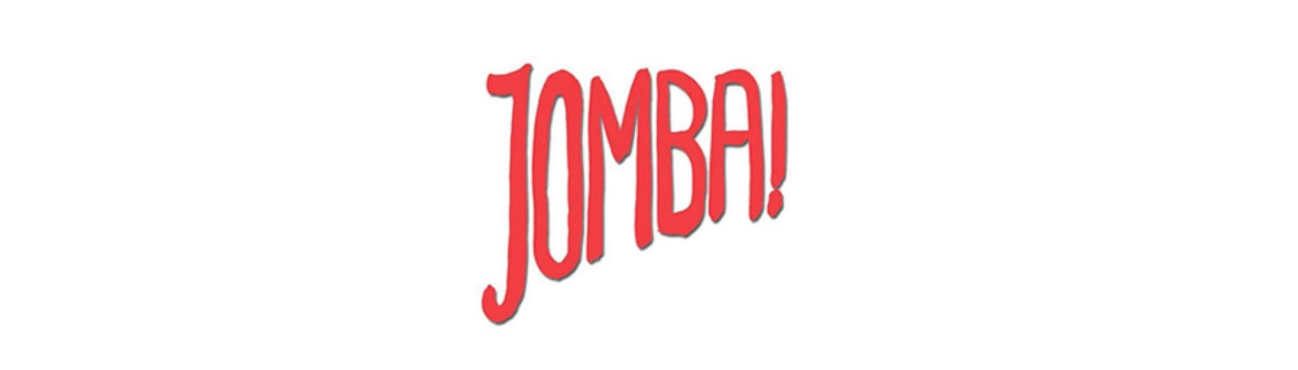 The word Jombai in red capital text on a white background