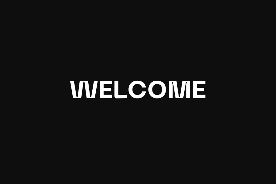 Welcome — Page Banner