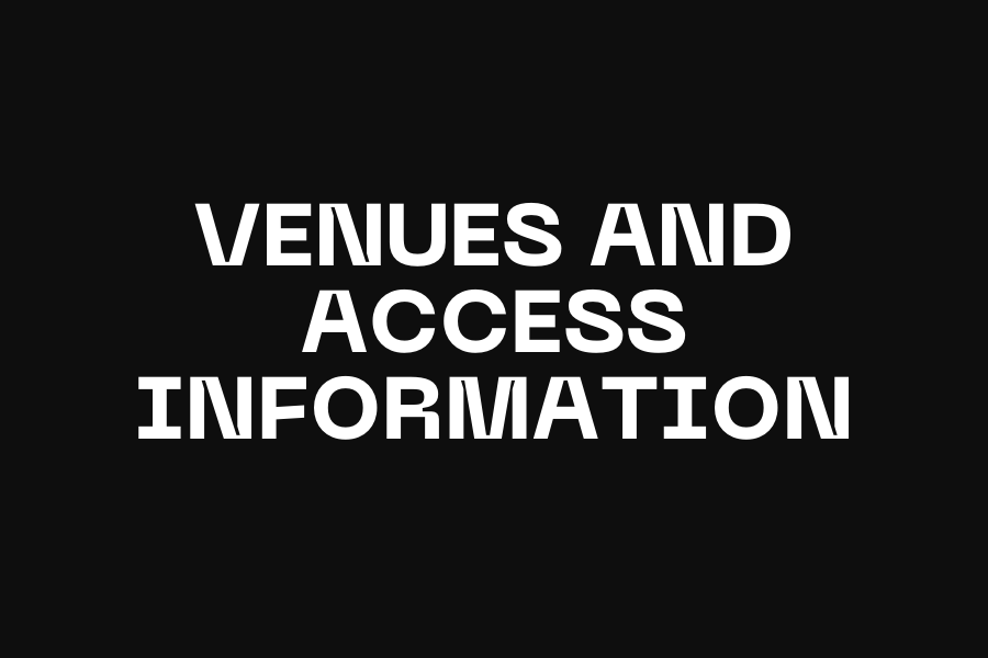 Venues and Access Information — Page Banner